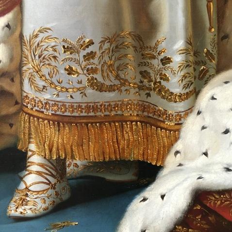 Napoléon 1er en costume de sacre, par Gérard (détail) © Corinne Martin-Rozès
