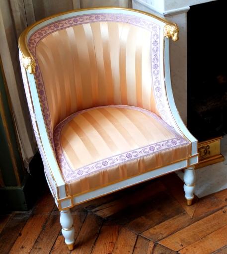 Fauteuil du boudoir de l'Impératrice © Corinne Martin-Rozès