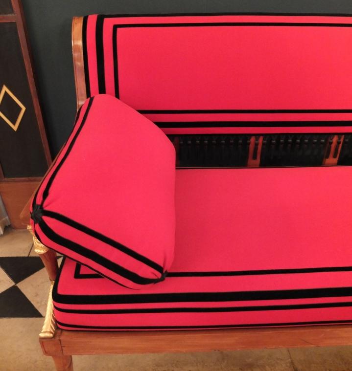 Chaise et canapés du Salon de Musique, signés Jacob-Frères © Corinne Martin-Rozès