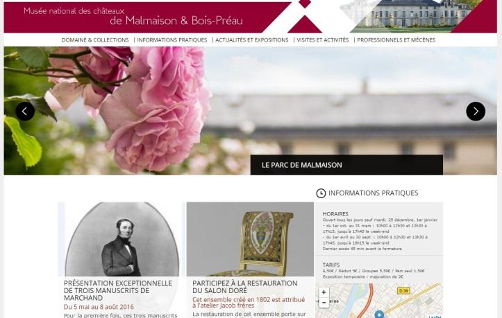 Homepage site Malmaison