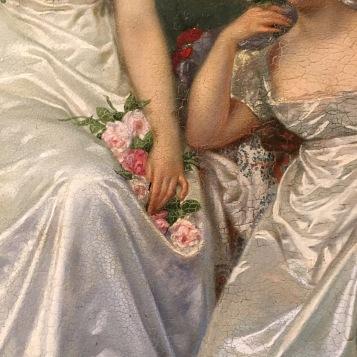 La rose de Malmaison, par Hector Viger (détail) © Corinne Martin-Rozès