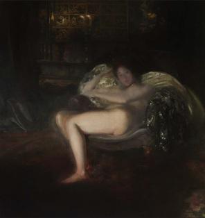 Albert Besnard (1849-1934), Féérie intime, 1901, huile sur toile, 146 x 155 cm, Paris, collection Lucile Audouy. © Lucile Audouy