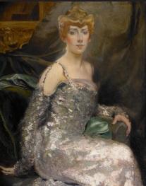 Albert Besnard (1849-1934), Portrait de la comtesse Maurice Pillet-Will, vers 1900-1905, huile sur toile, 101 x 82 cm, Paris, Galerie Elstir. © Lucile Audouy