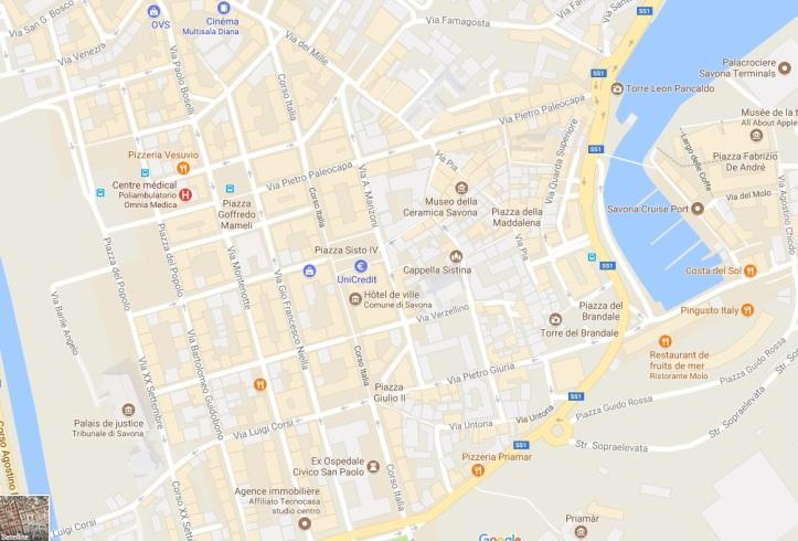 Plan général du centre de Savona